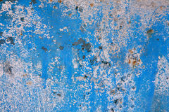 Old blue painted wall background. Close-up shot old painted rusty wall background Royalty Free Stock Photo