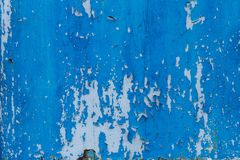 Old grunge cracked paint on metal wall texture Royalty Free Stock Photography