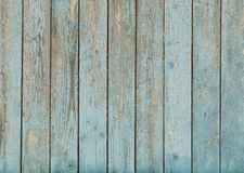 Old blue painted wood texture Stock Image