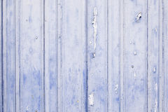 Old blue painted wood Stock Images