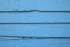 Old blue painted wooden wall Stock Image