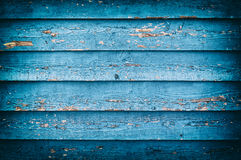 Old blue painted wooden wall Royalty Free Stock Photography