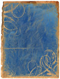 Old blue paper. Antique background Stock Images