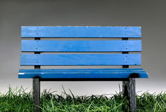Old Blue Park Bench. Royalty Free Stock Photo