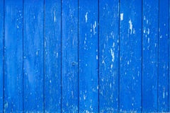Old blue plank wall Stock Image