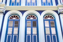 Old blue portuguese door Stock Photos