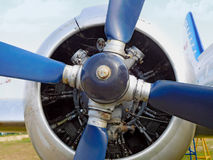 Old blue propeller Royalty Free Stock Photo