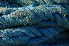 Old blue rope Royalty Free Stock Images