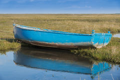 Old  blue rowing boat Royalty Free Stock Photography