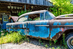 Old Blue Rusted Royalty Free Stock Images