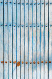 Old blue shutters Stock Images