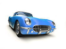 Old blue sports car Royalty Free Stock Images