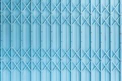 Old blue steel door texture pattern or steel door background with rusty metal Royalty Free Stock Photos