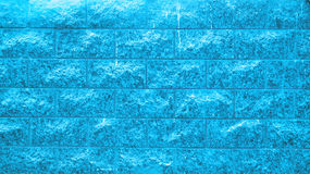 Old blue stone wall block background Stock Image