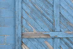 Free Old Blue Storage Building Door Detail Royalty Free Stock Photos - 82096978