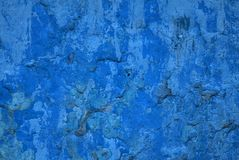 Old blue stucco. Stock Image