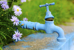 Old blue tap Royalty Free Stock Photos
