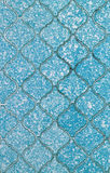 Old blue tile background and texture Stock Photo