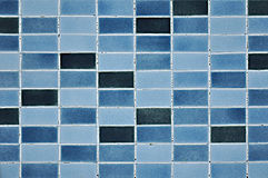 Old blue tile wall pattern Royalty Free Stock Photos