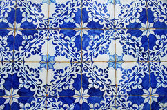Old blue tiles close-up, Portugal Royalty Free Stock Photography
