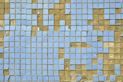 Free Old Blue Tiles On The Wall. Stock Images - 32112524