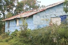 Old Blue Tin House Royalty Free Stock Photo