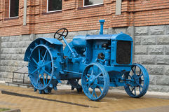 Old blue tractor Royalty Free Stock Images