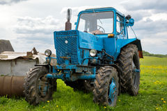 Old blue tractor Royalty Free Stock Photography