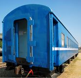 Old Blue Train Car Stock Images
