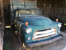 Old blue truck Stock Image