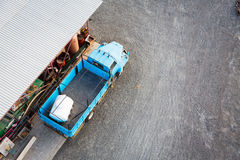 Old Blue Truck. Seen from above Royalty Free Stock Photography
