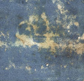 Old blue vintage paper background. Old and worn paper for background stock images