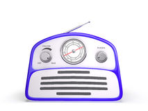 Old blue vintage retro style radio receiver Royalty Free Stock Image
