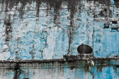 The old blue wall Stock Image