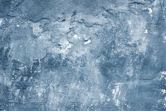 Old blue wall. Abstract grungy textured wall in blue colour Stock Photos