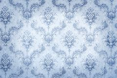 Old blue wallpaper Royalty Free Stock Image