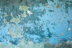 Old blue weathered concrete wall background Stock Image