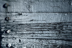 Old blue weathered oak plank background Royalty Free Stock Images