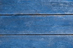 Old blue weathered wood background Stock Images