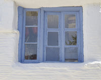 Old window, Tinos island, Greece Royalty Free Stock Images