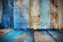 Old blue wood background Royalty Free Stock Photography