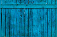 Old blue wood fence Royalty Free Stock Image