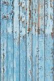 Old Blue Wood Plank Background. Stock Photo