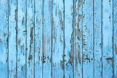 Old Blue Wood Plank Background. Stock Photography