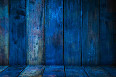 Old blue wood planks Royalty Free Stock Image