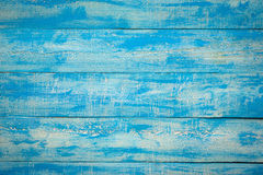 Old Blue Wood Slats Rustic Shabby Horizontal Background.  Royalty Free Stock Image