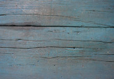 Old blue wood texture close-up Royalty Free Stock Photo