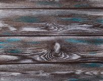 The old blue wood texture with natural patterns. stock photo