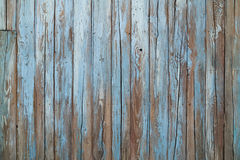 Old Blue Wood Wall Royalty Free Stock Images