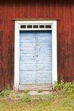 Old blue wooden door Stock Images